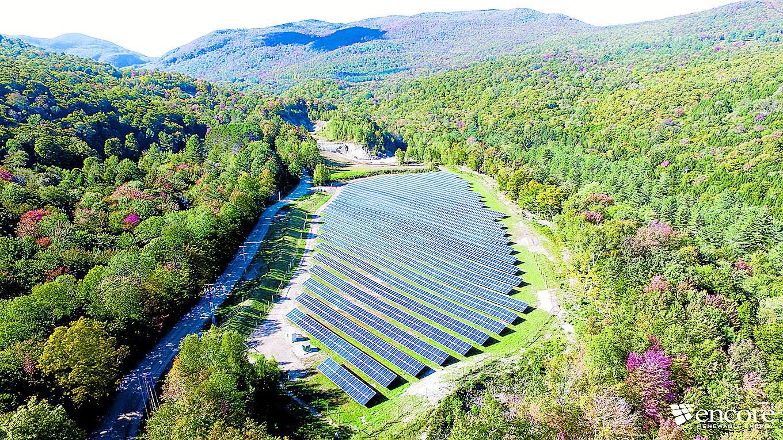 Stowe solar array