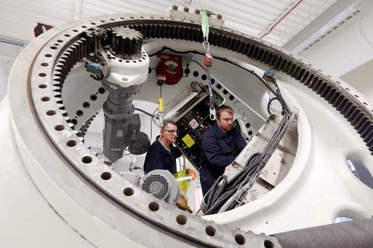 Wind turbine technician students (Liz Martin / The Gazette)