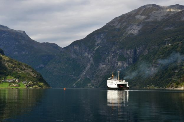 Ferry on a fjord (Getty Images)