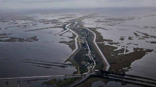 Roads leading into Isle de Jean Charles, Louisiana (Photo: Louisiana Office of Community Development)