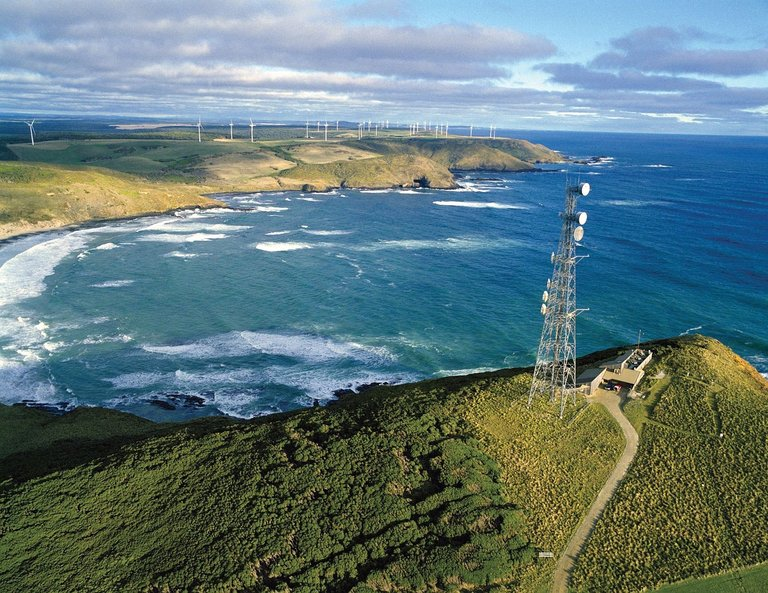 Cape Grim Baseline Air Pollution Station in Tasmania. (Credit: Commonwealth Scientific and Industrial Research Organization)