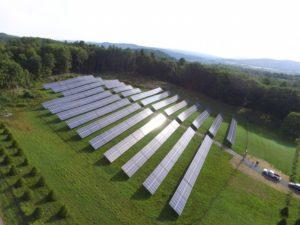 The Upper Valley Aquatic Center's solar array in Hartford, Vermont.
