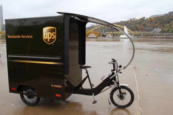 UPS electric delivery bike