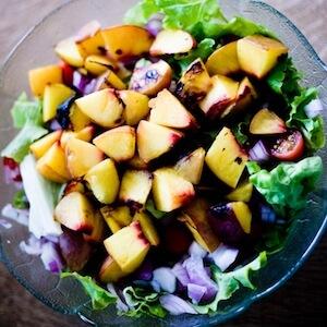 Simple Grilled Nectarine Salad Recipe