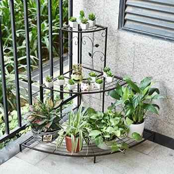 Stair-Step Style Iron Plant Stand Apartment Living