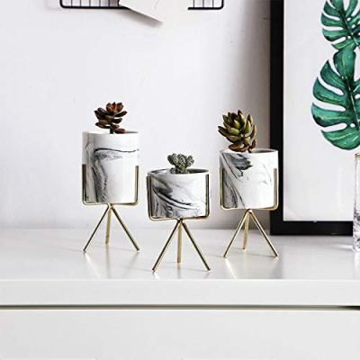Nordic Style Marble Ceramic Pots Apartment Living