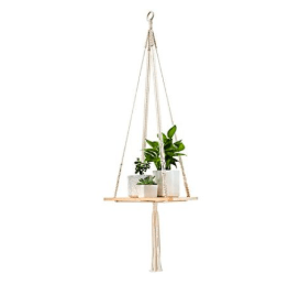 Mkono Macrame Shelf Hanging Planter Apartment Living [tag]