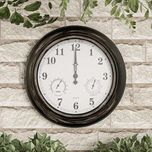 Pure Garden Wall Clock Thermometer Gift Ideas