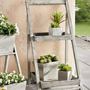 Foldable Wooden Plant Stand Apartment Living