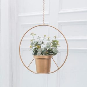 Boho Gold Hanging Planter Apartment Living [tag]