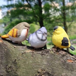 Miniature Bird Garden Statues Apartment Living [tag]
