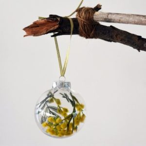 Australian Golden Wattle Christmas Baubles Accessories australian