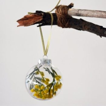 Australian Golden Wattle Christmas Baubles Accessories