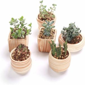 Ceramic Wooden Style Pot Set Gift Ideas ceramic