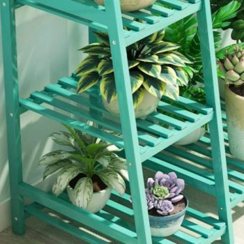 Teal Bamboo Plant Stand Accessories