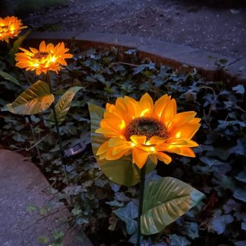 Sunflower Solar LED Garden Light eBay