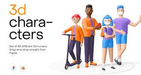 3D Humans - illustrations pack