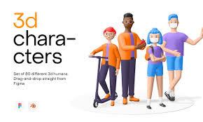 3D Humans - illustrations pack