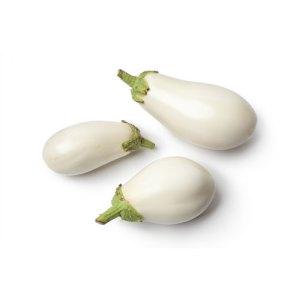 Βιολογικά λαχανικά - λευκές μελιτζάνες