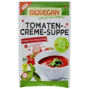βιολογική σούπα ντομάτας με μυρωδικά BIOVEGAN