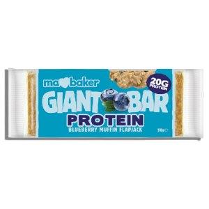 μπάρα πρωτεΐνης βρώμης, blueberry muffin