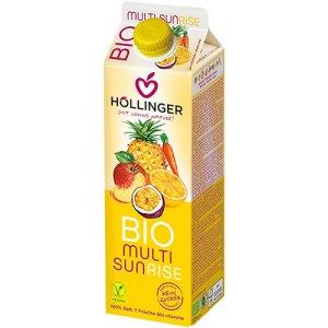 Βιολογικός χυμός κοκτέιλ φρούτων SUNRISE της HOLLINGER.