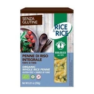 βιολογικές πέννες ρυζιού ολικής της Rice & Rice