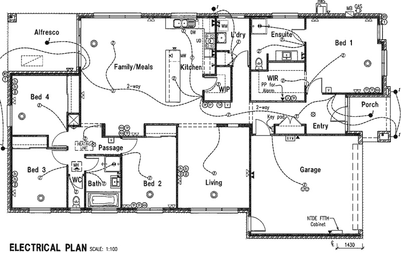 house electrical schematic drawings