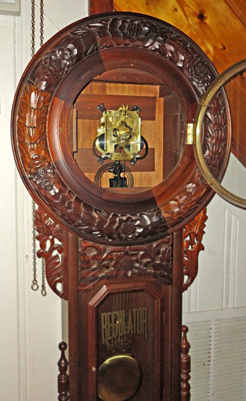 Large Korean Reproduction Rococo Wall Regulator Clock C Modern
