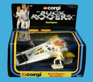 02 Buck Rogers Starfighter Corgi Spaceship 9