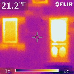 Infrared picture of front door