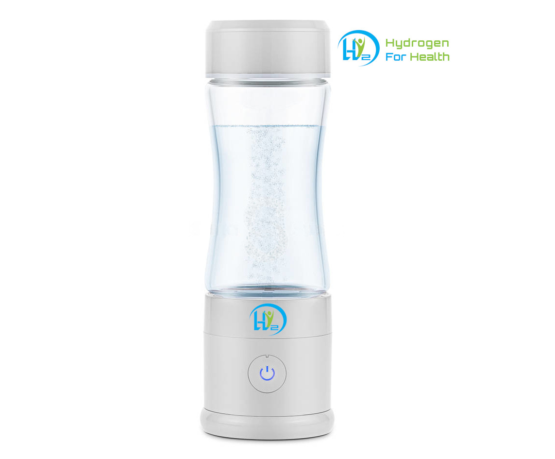 REFURBISHED PEM+ (White) Hydrogen Rich Water Bottle with PEM Dual chamber  Technology (300ml glass) - Green Fuel H20