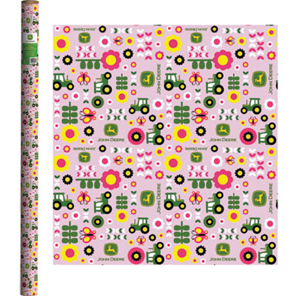 John Deere Pink Wrapping Paper LP51678