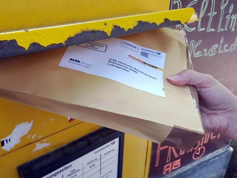 Ab in den Briefkasten.