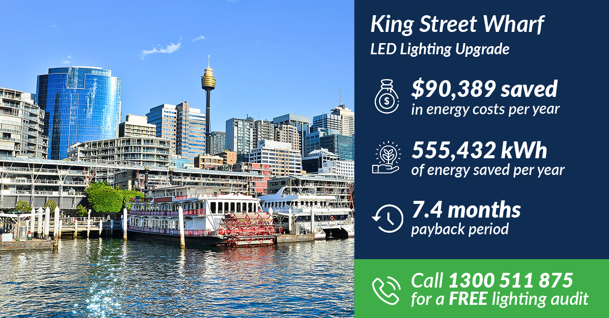 The Green Guys Group - LED Lighting Upgrade - King Street Wharf