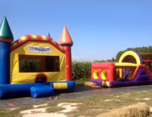 Bounce House and Obstacle Course for Kids
