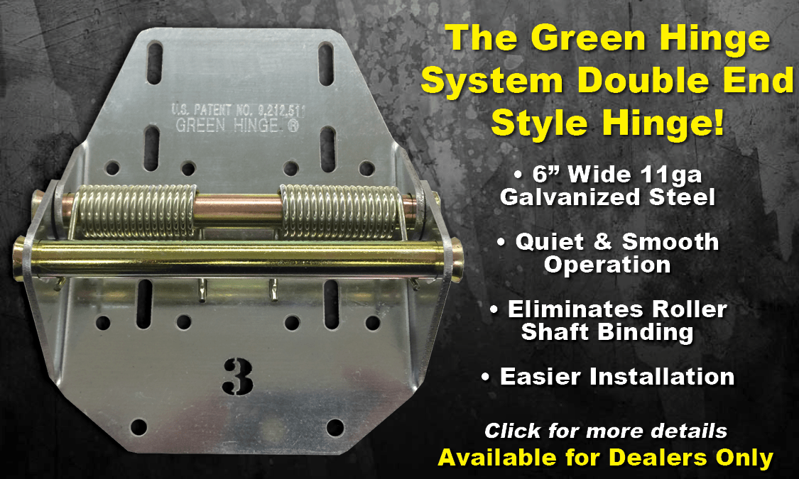Green Hinge System  HeavyDuty Garage Door Hinges