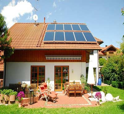Solaranlage-Hausdach