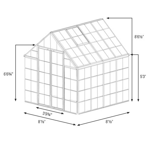Snap and Grow 8 x 8 Greenhouse