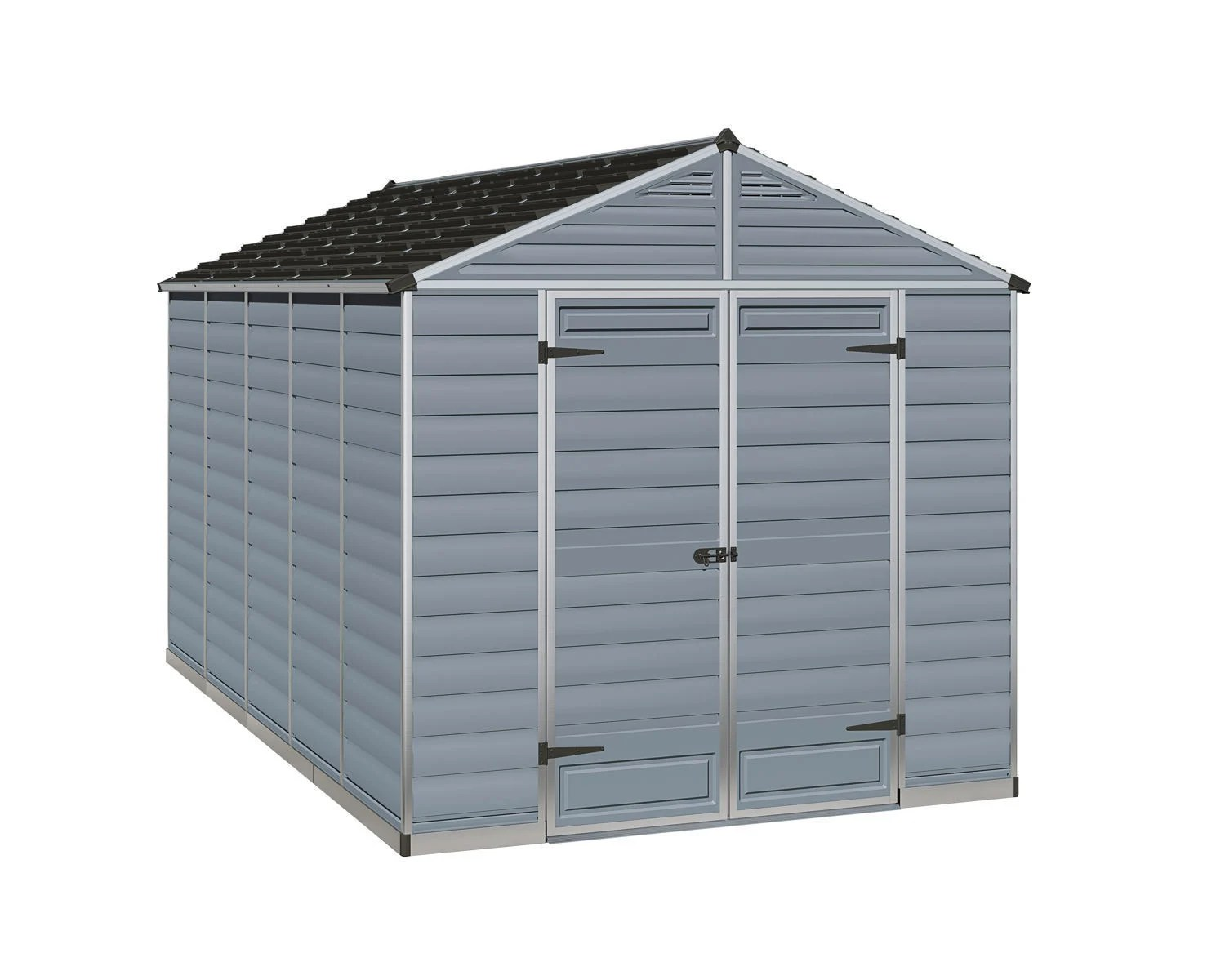 Palram 8x12 Plastic Skylight Grey Shed Greenhouse Stores