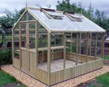 Swallow Raven 8x10 Wooden Greenhouse - Stores