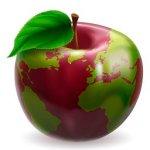 Globe Apple Concept Illustration