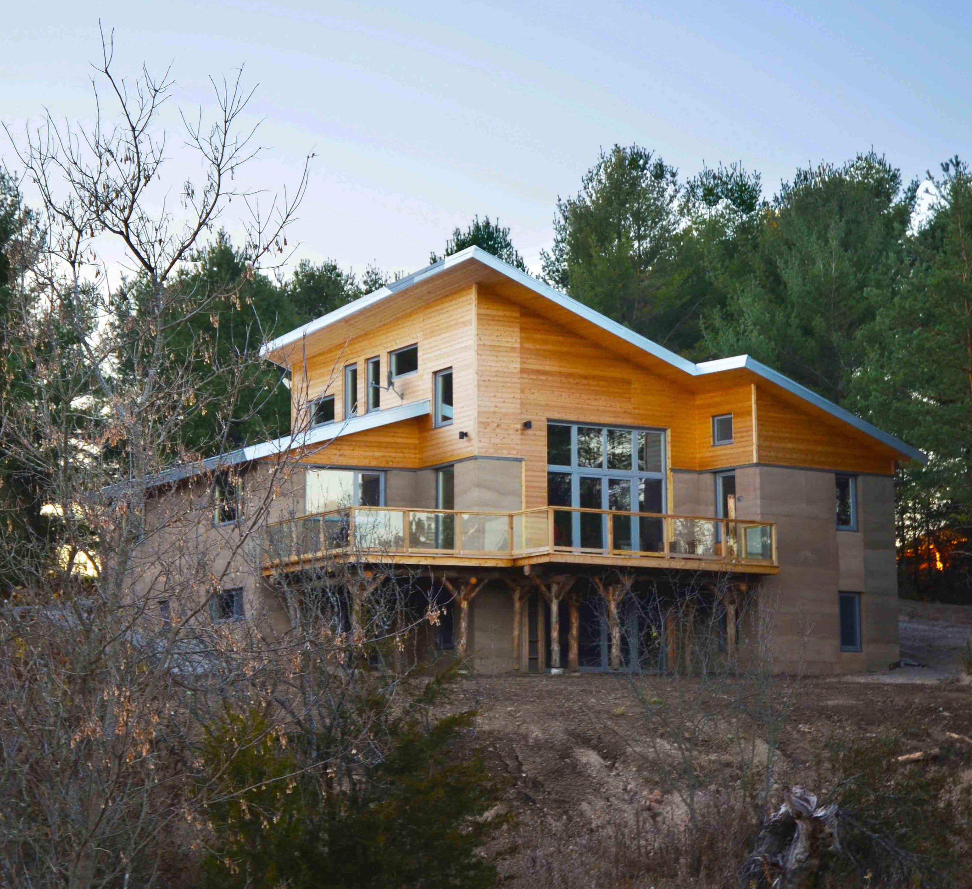 Insulated Rammed Earth  Beautiful Natural and Functional by Steven Gray  Greening Homes