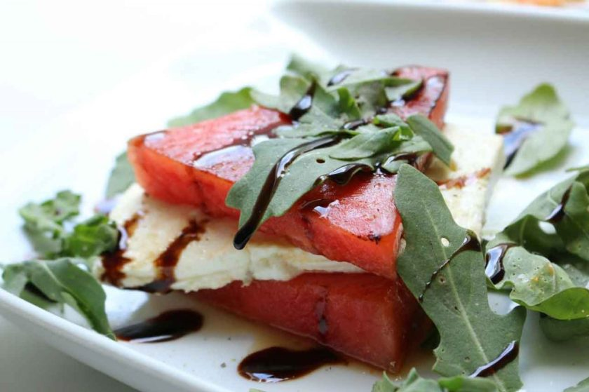 Watermelon and feta are delicious and perfect for summer showers.