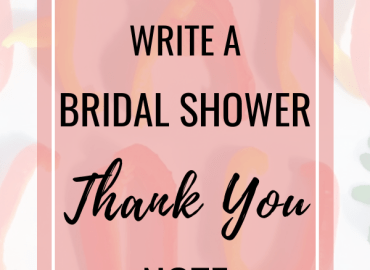How to write a bridal shower thank you note