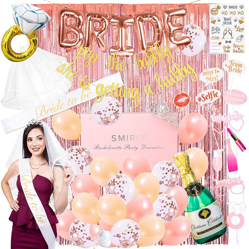 Bridal shower party accessories and decorations kit
