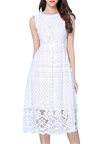 Sleeveless lace bridal shower dress