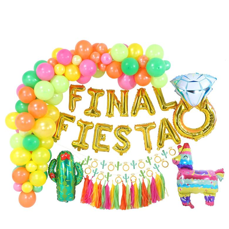 Fiesta themed bachelorette party theme decorations