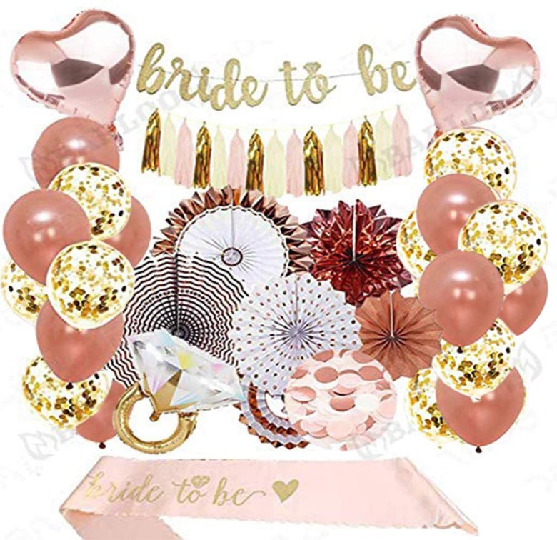 Bridal shower decoration kit