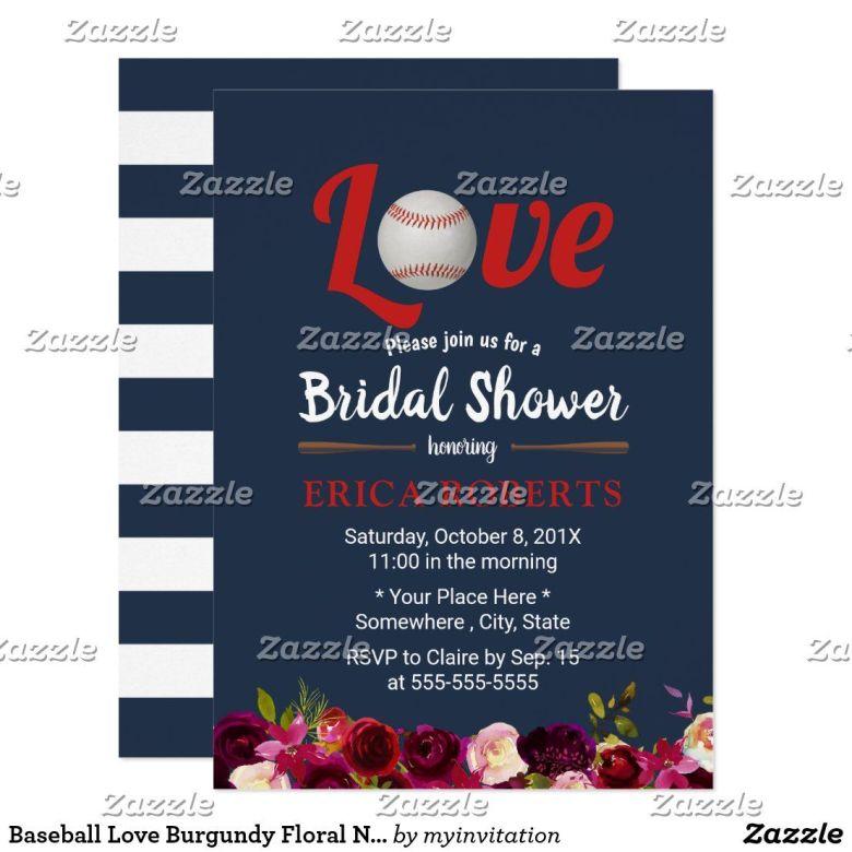 Sports themed couple shower invitation